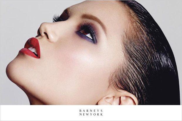 Illuminating Cosmetic Campaigns : barneys beauty Benjamin Puckey who works alongside hair stylist Marki Shkreli to transform his model muse, Charlotte Carey.book.