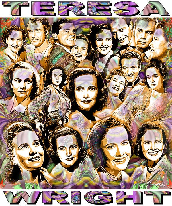 """""""TERESA WRIGHT"""" TRIBUTE T-SHIRT OR PRINT BY ED SEEMAN 