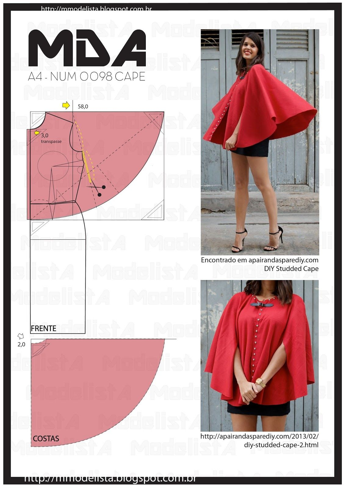 A4 NUM 0098 CAPE | A4, Cape and Patterns