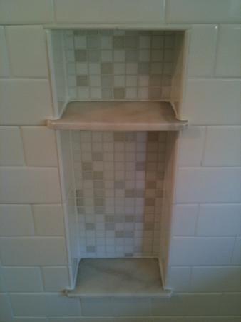 Making A Carrara Marble Soap Niche Shelf In A Shower Tampa Florida