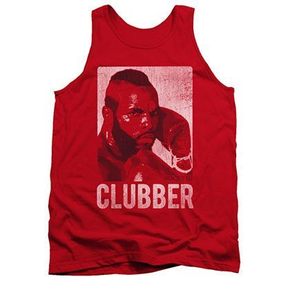 Rocky Clubber Lang Distressed Red Tank Top