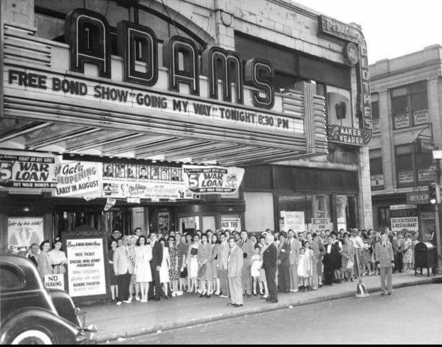 Adams Theater Movie Theater Vintage Movie Theater Newark