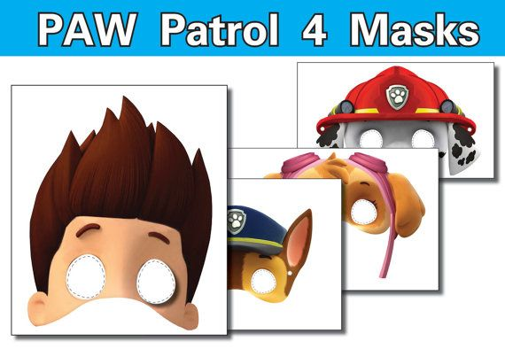 Paw Patrol Masks Printable INSTANT DOWNLOAD By OrShaJo On Etsy