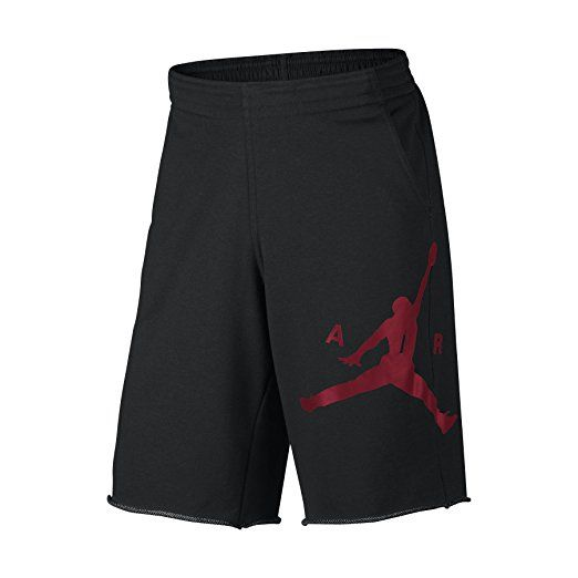 Nike Mens Air Jordan City Knit Graphic Shorts Black/Gym Red 835159-032 Size