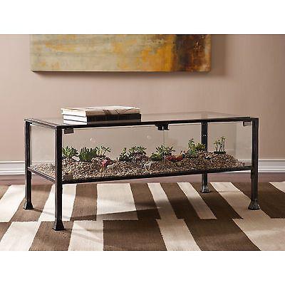 Plant Terrarium Coffee Table Sofa Glass Metal Curio Display Case