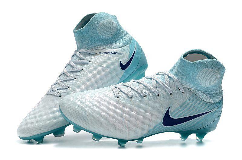 Botas de Futbol Nike Magista Obra 2 FG ACC Blanco Azul