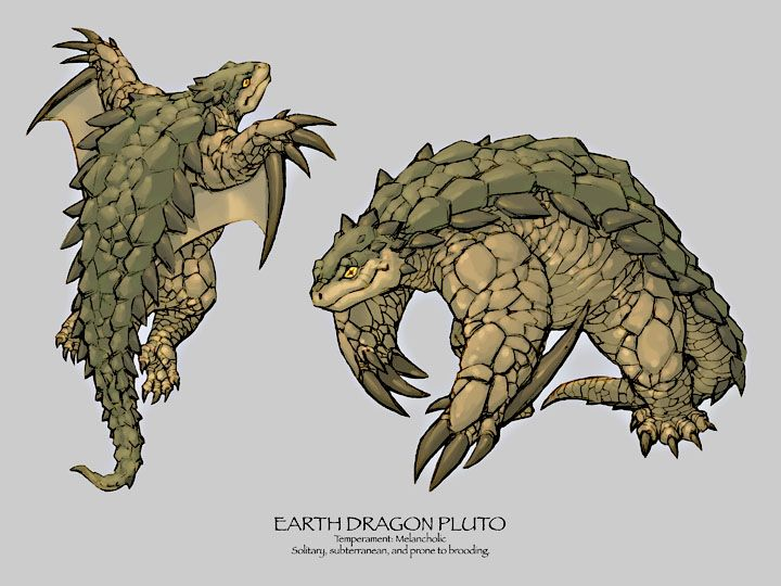 earth dragon earth dragon pluto dragons pinterest