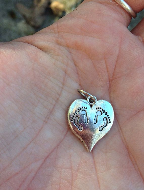 Twin miscarriage memories footprints on heart charm pendant twin miscarriage memories footprints on heart charm pendant necklace babyloss stillbirth twins multiple losses mother grief aloadofball Choice Image