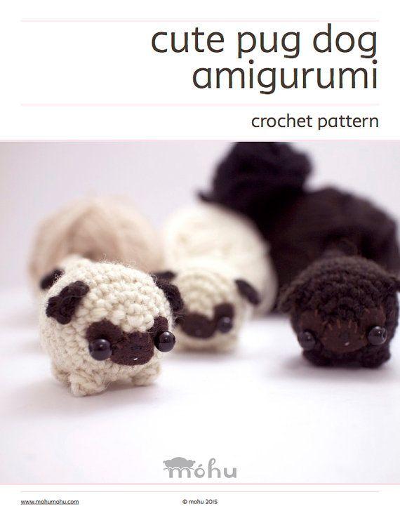 Amigurumi pug crochet pattern - amigurumi dog pattern   Tejido ...