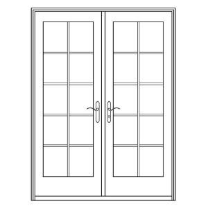 Ashworth, Professional Series 72 In. X 80 In. White Aluminum/Wood French  Patio Door, PRO6068SP10LTPIWSTNK At The Home Depot   Mobile