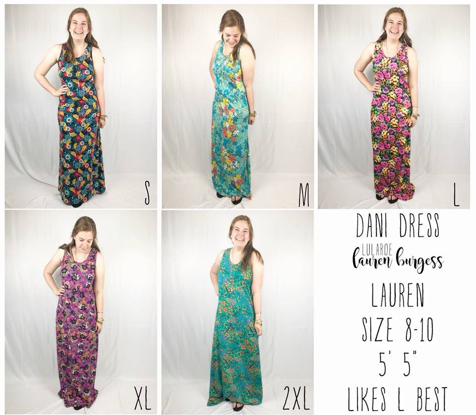 c8725d413c Direct Sales and Home Based Business Member Article By Lauren Burgess Click  for details on the sizing of the LuLaRoe Dani tank top maxi dress!