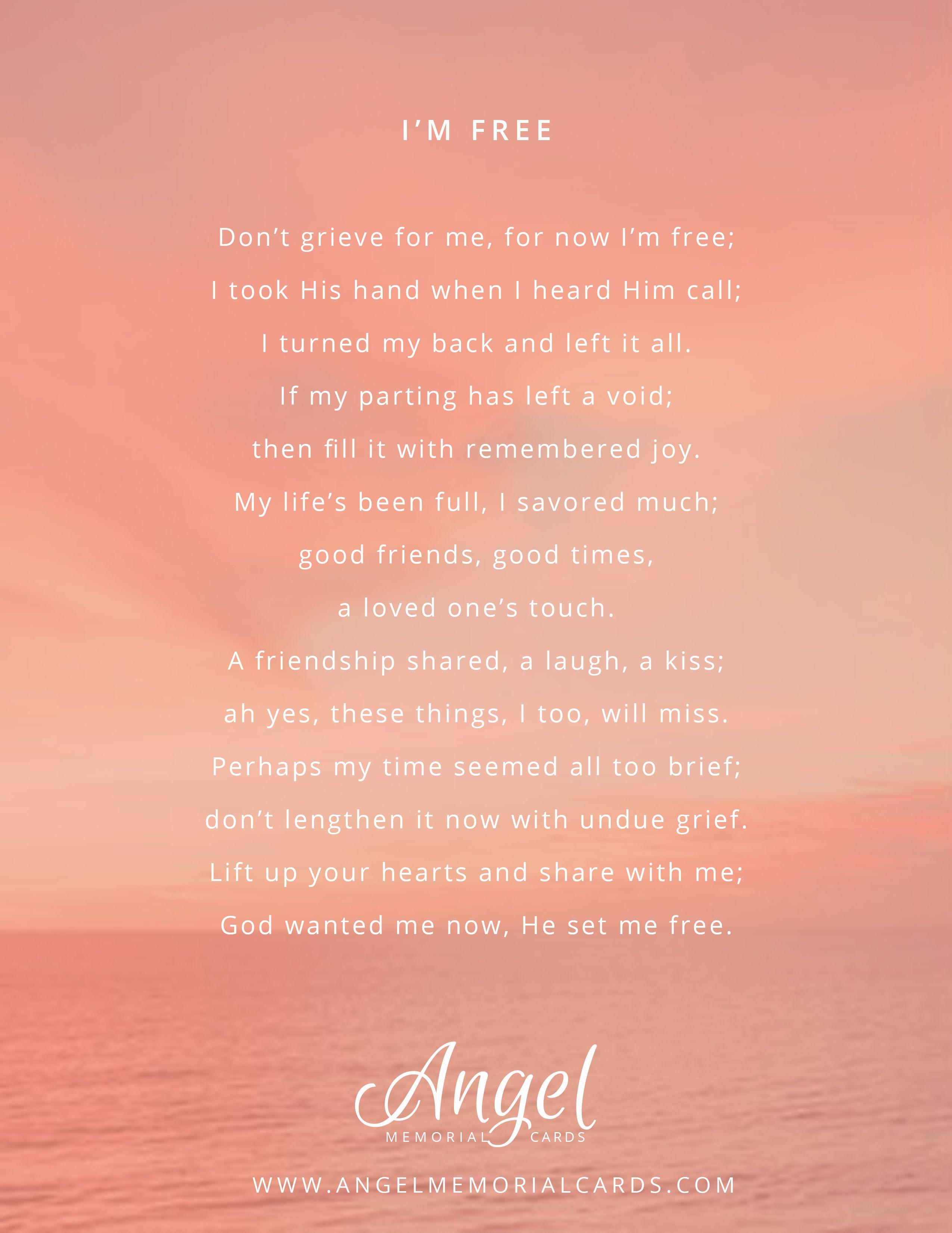 Park Art My WordPress Blog_A Life Well Lived Funeral Poem