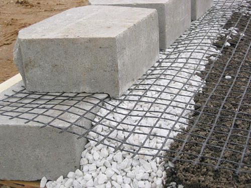4 X 45 Geogrid At Menards 4 X 45 Geogrid Retaining Wall Design Building A Retaining Wall Landscaping Retaining Walls