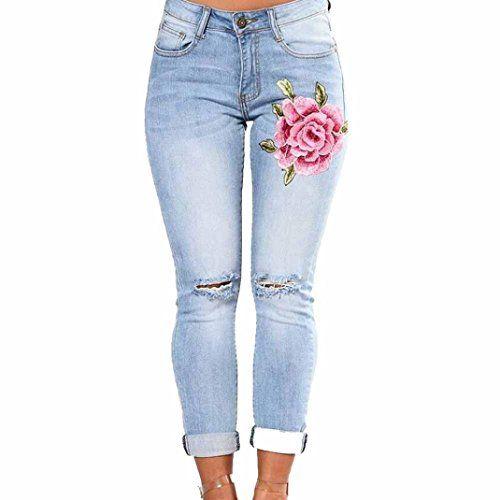 ddfafd4b78 Vaqueros Slim fit Mujer Talle Alto Flaco Pantalones Largos lápiz Pantalones  elásticos Stretch Jeans Pantalones Vaqueros