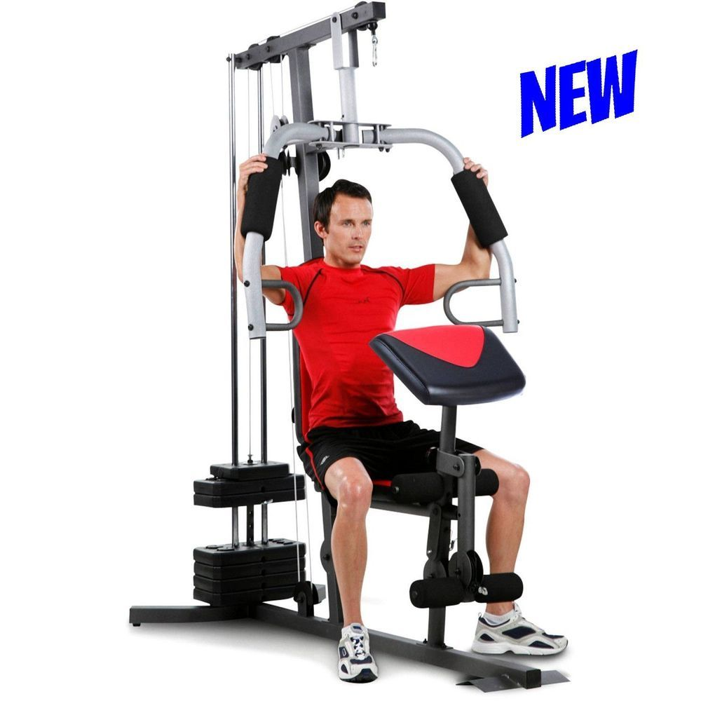 Details About Home Gym Machine Resistance Total Workout Muscle Body Builder Equipment Pulley Gym Gymlife Total Workout Workout Stations Home Gym Machine