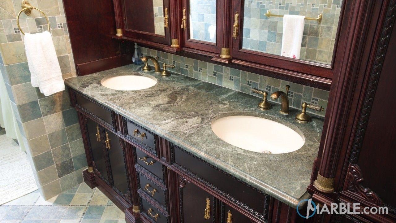 Green Ocean Granite Bathroom Countertops | Granite ... on Bathroom Ideas With Black Granite Countertops  id=69097