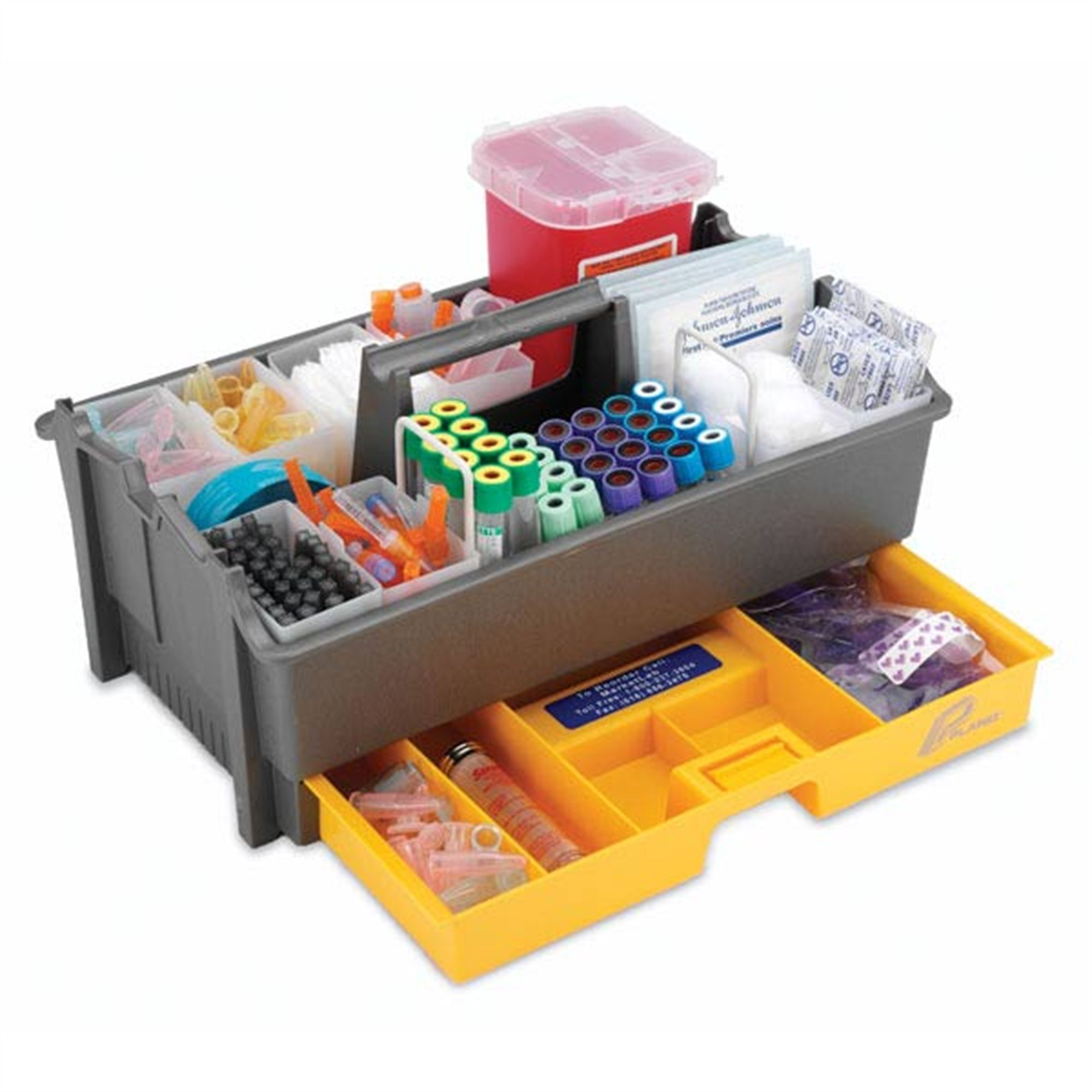 Specimen collection tray to put the equipment such as needles in phlebotomy tray is used to put and carry the equipment around in a safe place xflitez Choice Image