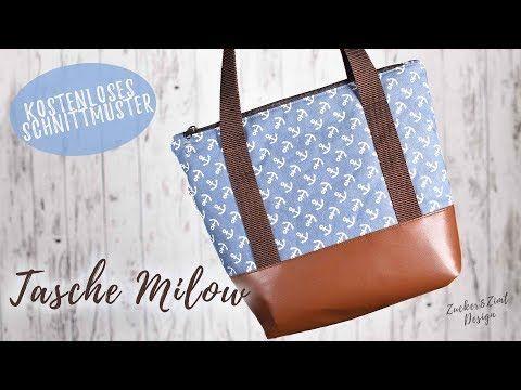 Tasche Milow nähen [DIY-Anleitung mit kostenlosen Schnittmuster und Video #diytutorial