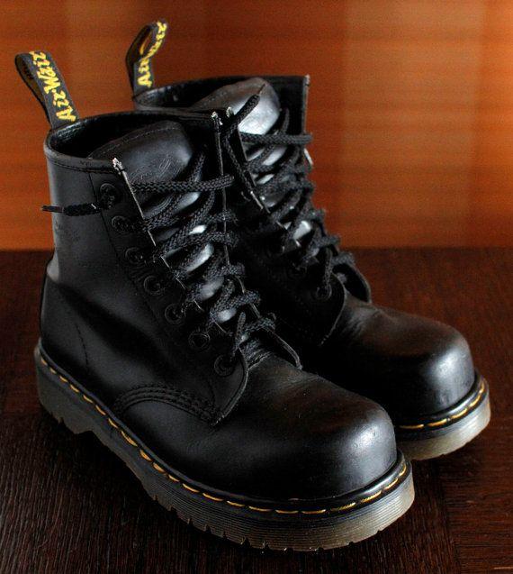 3ca22775c92 RESERVED/// Dr Martens Steeltoe INDUSTRIAL platform vintage boots ...