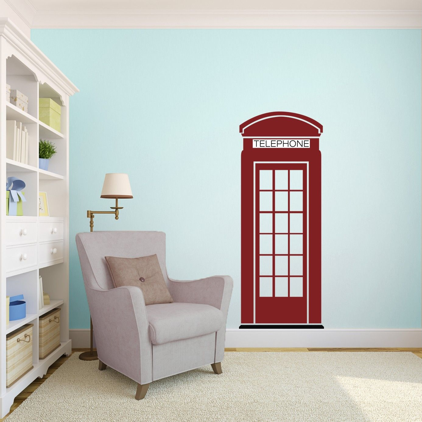 London Phone Booth Wall Art Decal Vinyl Wall Art And Kids Rooms - Custom custom vinyl wall decals uk