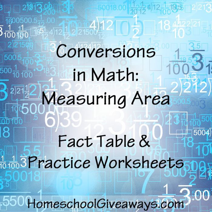 Conversions in Math-Measuring Area FREE Practice Worksheets   Math ...