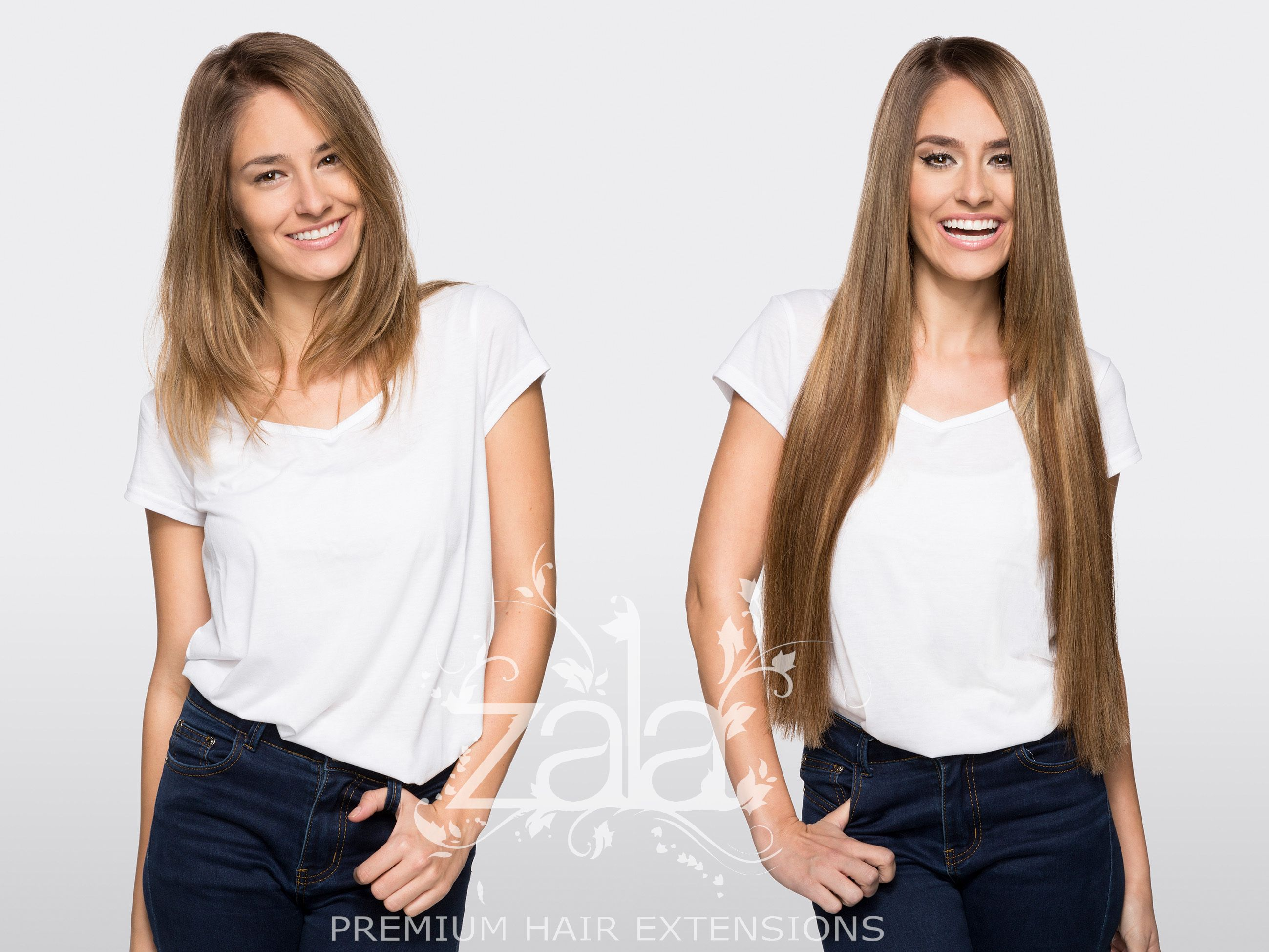 Before And After Zala Snickers 24 Clip In Hair Extensions Hair