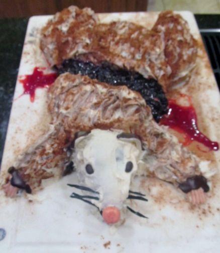 Roadkill cake Halloween Pinterest Cake Trash party and