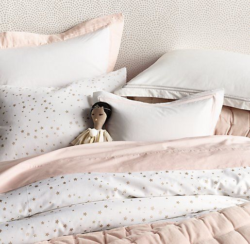 Metallic Star Print Duvet Cover Bed Linens Luxury Bedding And