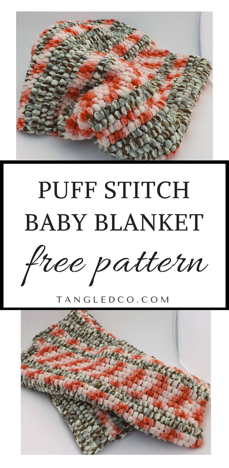 Puff Stitch Baby Blanket | Briana K Community Crochet, Knit, & Craft ...