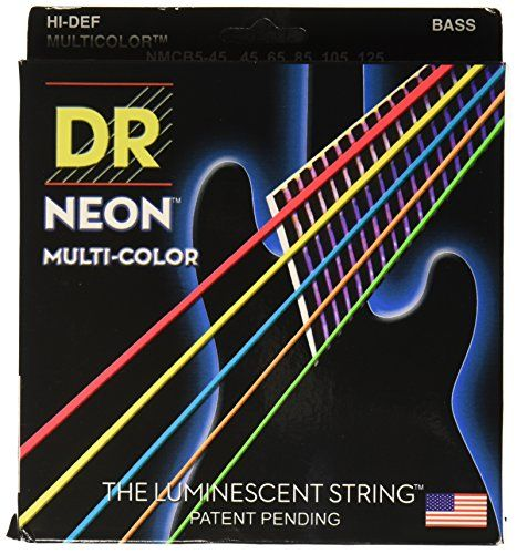 DR Strings NMCB545 DR NEON 5 Bass Guitar String Medium MultiColor * Continue to the product at the image link.Note:It is affiliate link to Amazon.