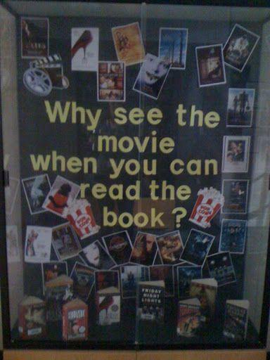 Movie vs Book Bulletin Board Idea