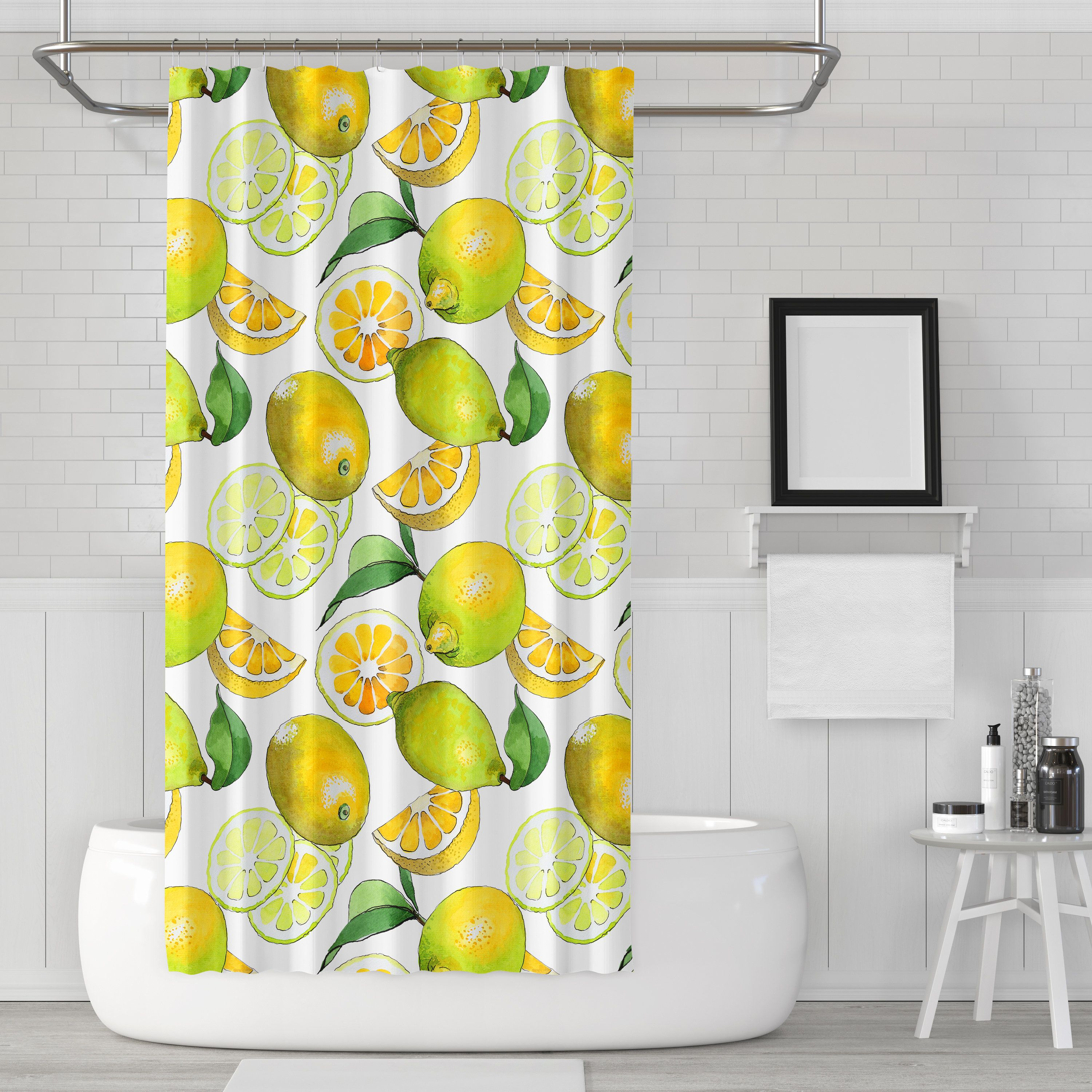 Lemon Shower Curtain Shower Curtain Lemons Shower Lemon