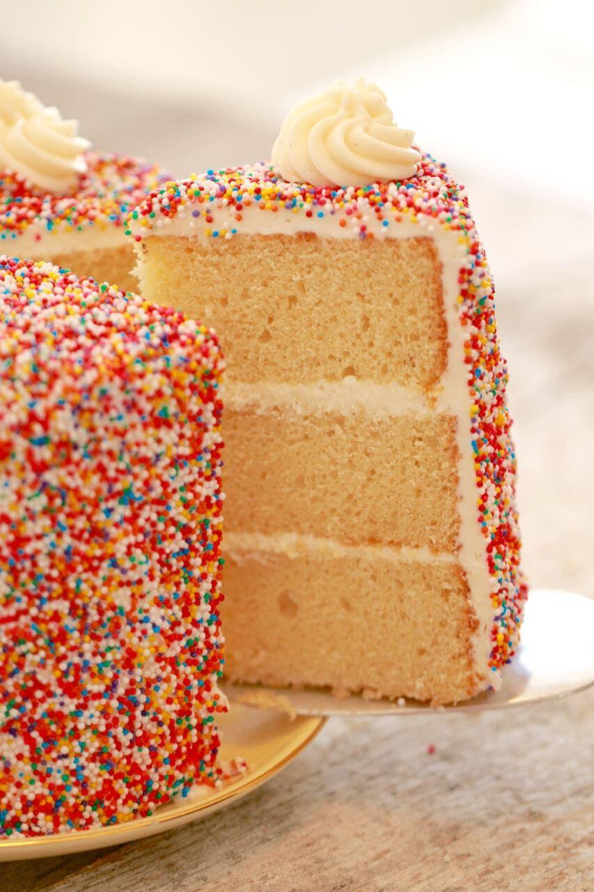 Vanilla Birthday Cake Recipe Icing Birthday cakes and Vanilla