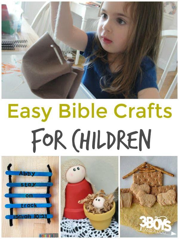 Easy Bible Crafts for Children | HOMESCHOOLING | Preschool bible