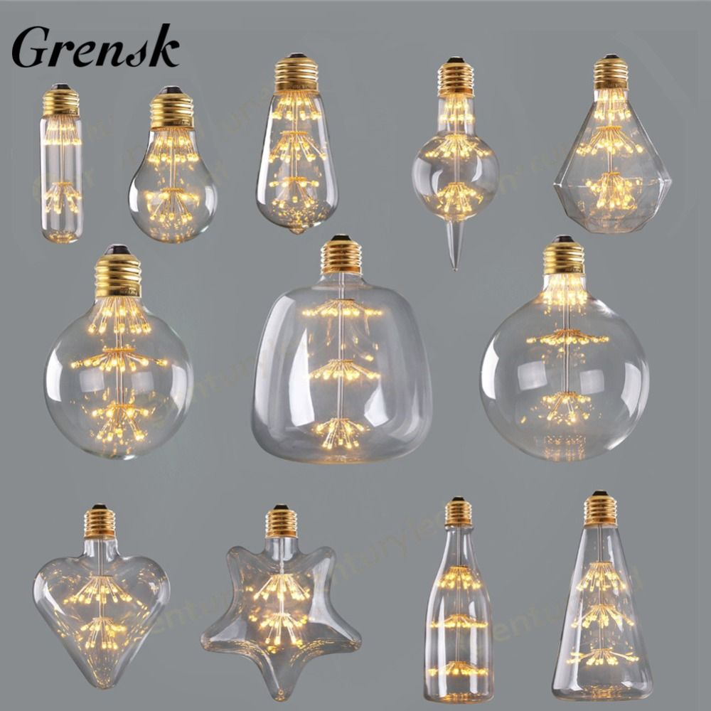 Christmas Led Filament Light Bulb Buy Quality Light Bulb Directly From China Led Filament Suppliers Grensk Diamond Heart Fireworks Bulbs 3w 2200k Ed