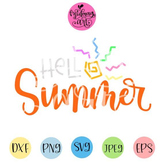 Hello summer svg, summer 2019 svg, summer svg cut file