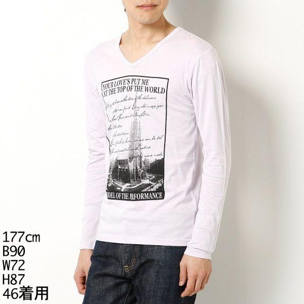 Tシャツ(VネックプリントTシャツ) | MKオム(MK homme) | ファッション通販 マルイウェブチャネル