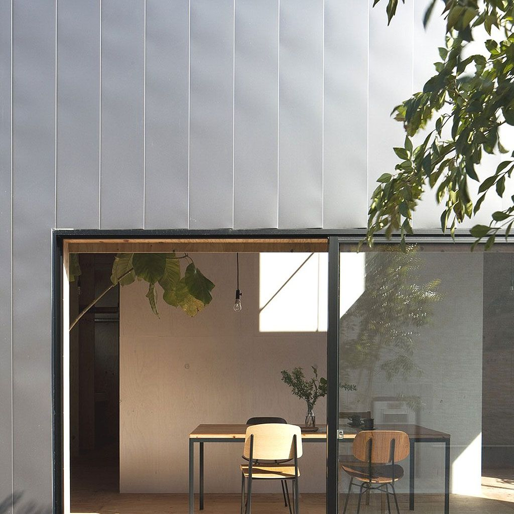 Japanese Minimalist House the ant house japanese minimalism interior view through the window