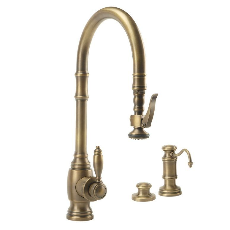 Waterstone Kitchen Faucets: Waterstone 5600-3-AB Traditional PLP Pulldown Faucet