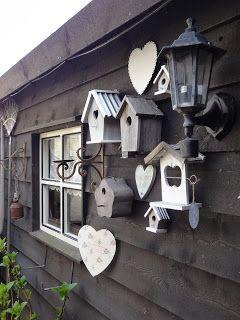 Het Hanenhok: Ik heb een tuintje in mn hart..... #birdhouses