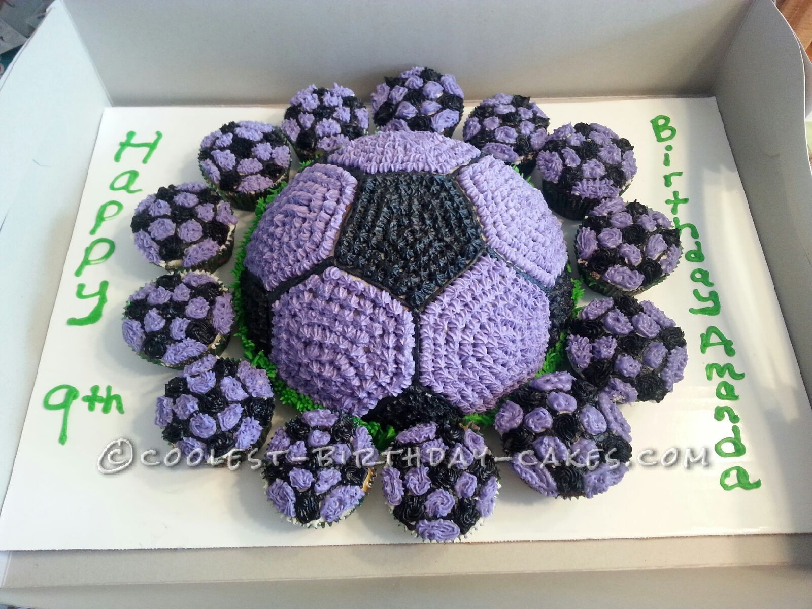 Coolest Soccer Ball Cake And Cupcakes Best Soccer Ball