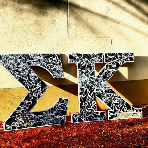 Shattered Glass Letters #sororityletters #greekletters #paddles ...