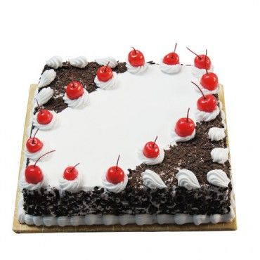 2 Kg Eggless Square Shape Black Forest Cake Anniversary Gifts