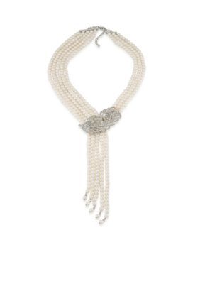Carolee  Oyster Bar Dramatic Multi Row Necklace