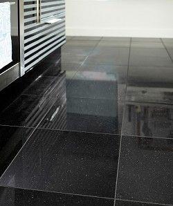 Polished Granite Black Galaxy · Topps TilesFloors KitchenNice ...