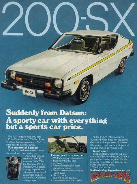 1977 Datsun Ad Datsun Sports Car Price Car Ads