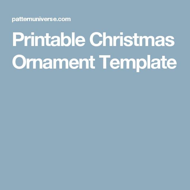 Printable Christmas Ornament Template