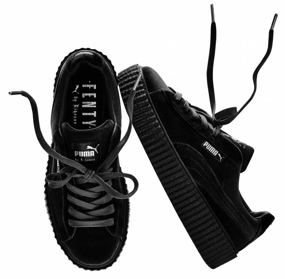 puma creepers noir et blanche
