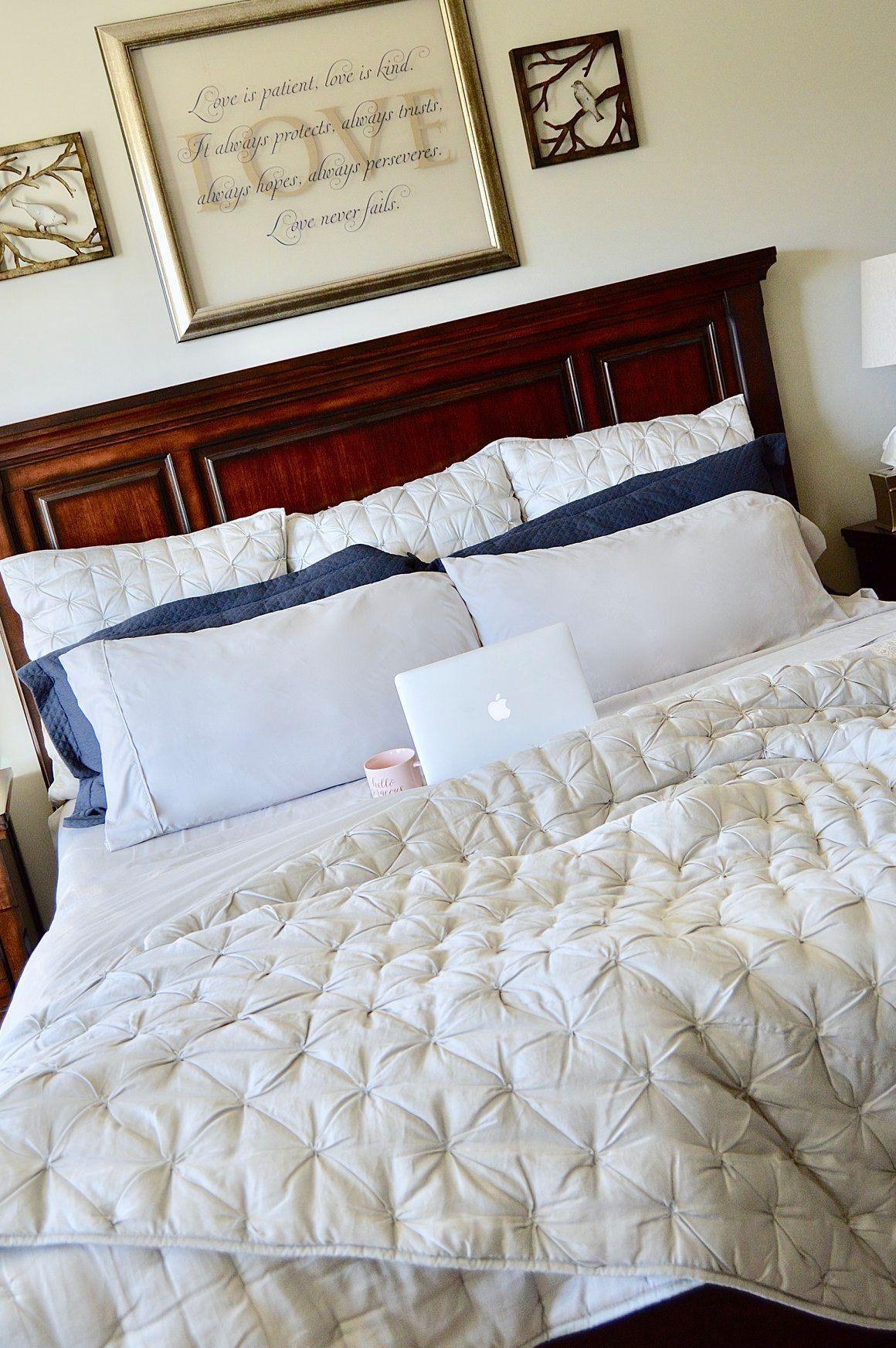 Neutrals inspo via katherineinspiredblog! 🍑 Best bed