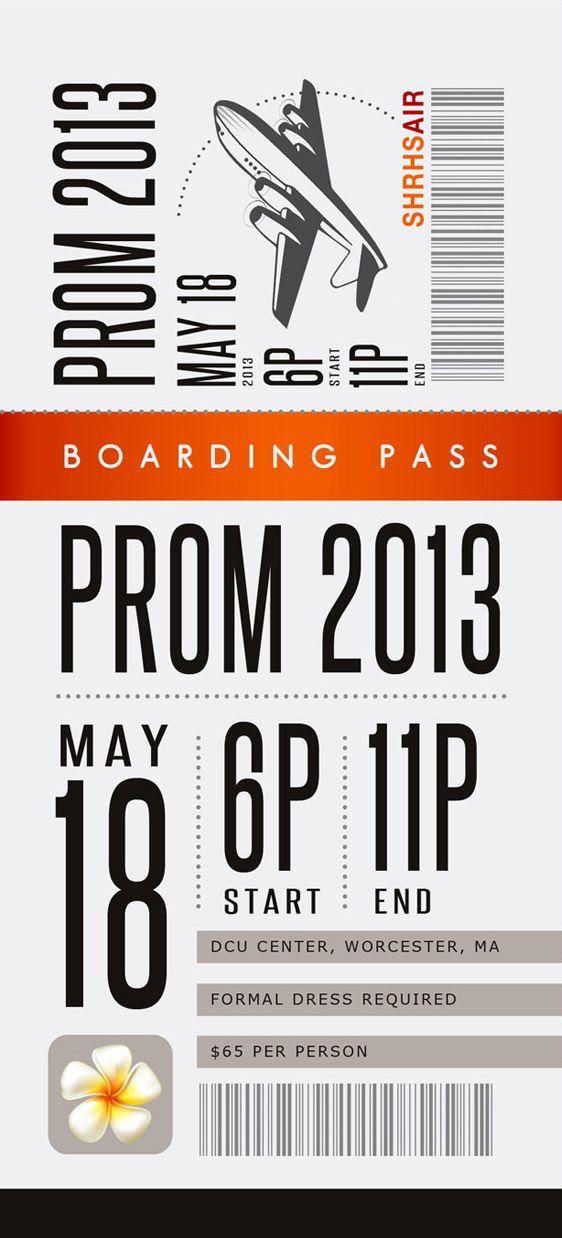 Prom ticket idea Prom Pinterest – Prom Tickets Design